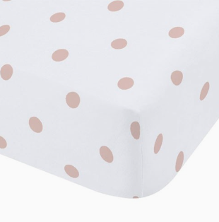 Dotty Brushed Fitted Sheet Blush
